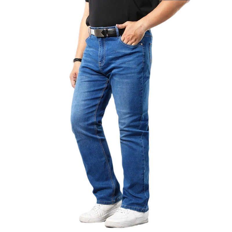 40 42 44 48 50 Great Taille Denim Jeans Classic Pocket Fashion Marque Vêtements Homme Droits Lâche Entreprise Casual Blue Jeans 210531