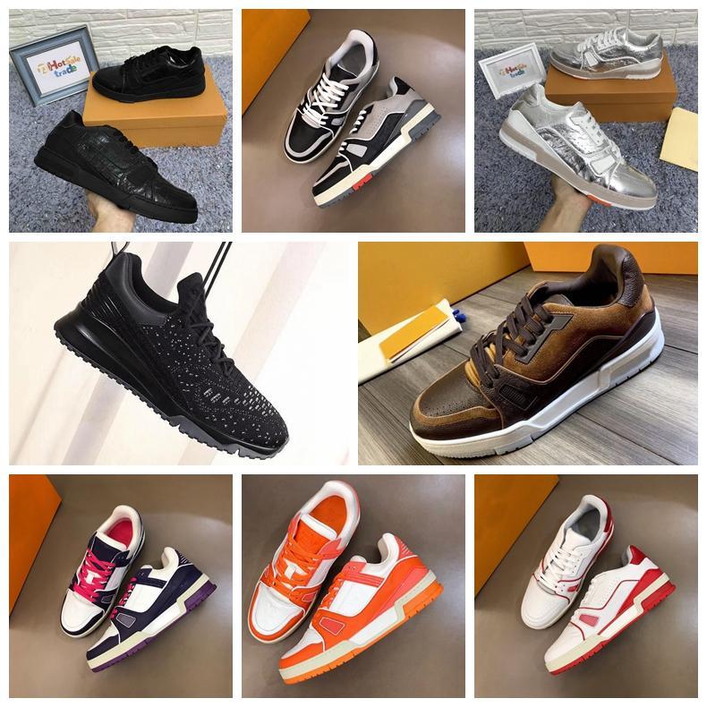 Brown Trainers Flores Sapatos 2020 New Popular Tops couro genuíno Chaussures preto Sneakers Casual Atacado