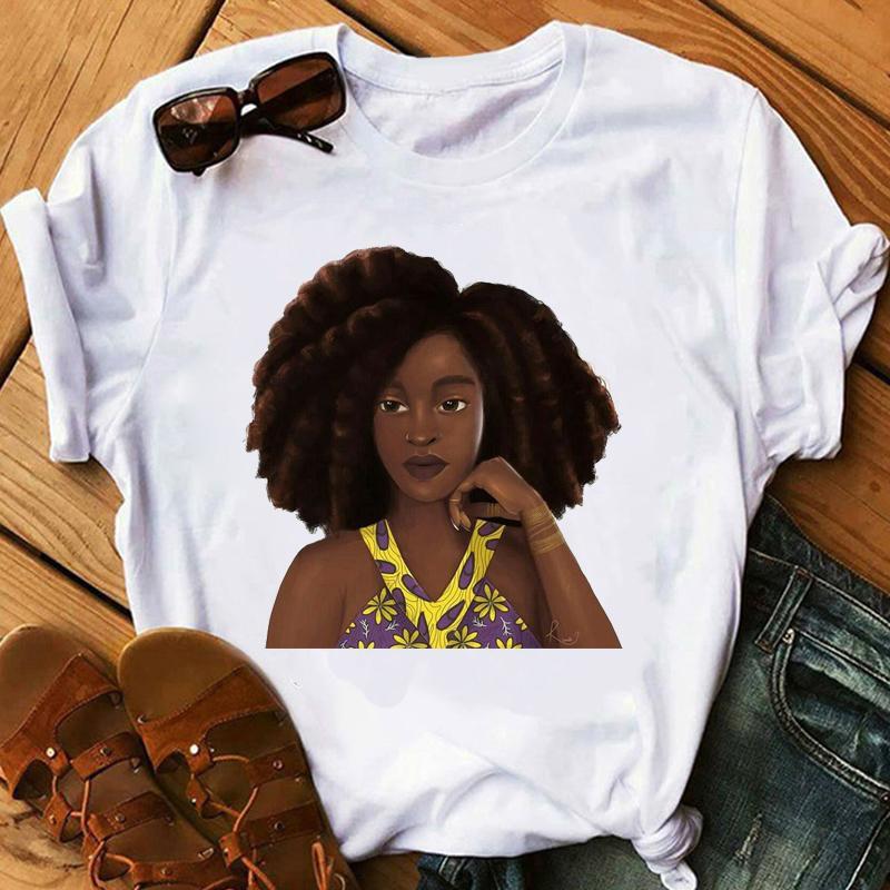 Siyah Bayan T-shirt Gotik Vintage Afrika Amerikan Tshirt Kadınlar Yaz Giysileri T Gömlek Estetik Streetwear Dropshipping C030501