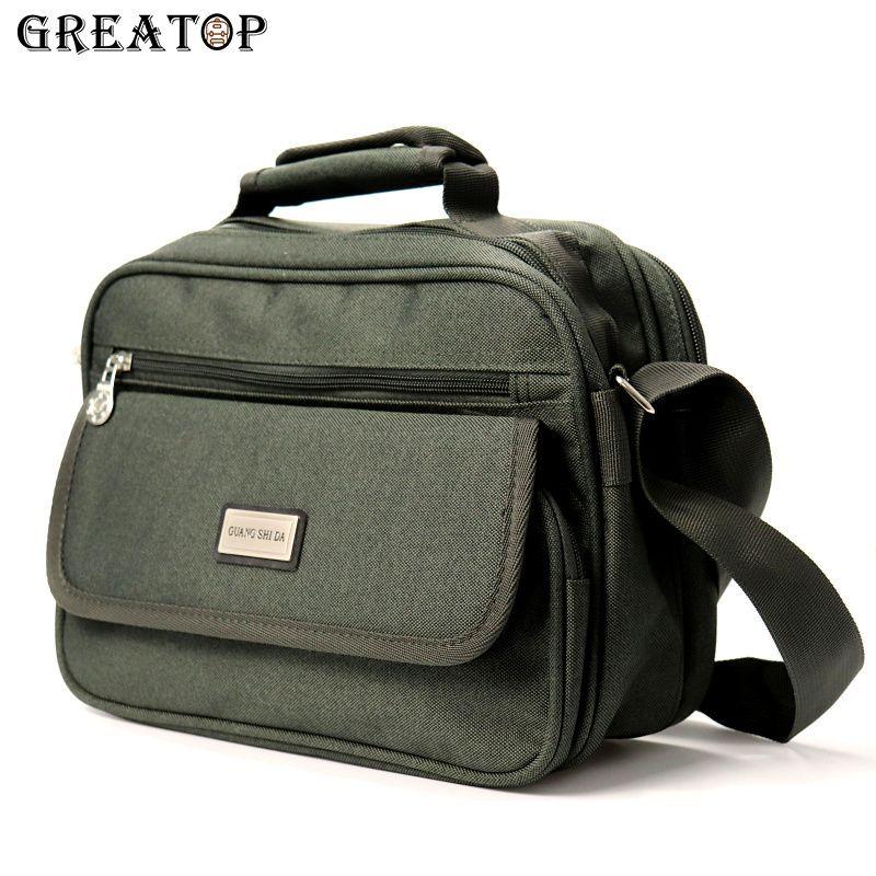 GREATOP Multi-Packet Business Men Messenger Bags Oxford Waterproof Business Travel Crossbody Bags Male Casual Handbag Y0027 C0224