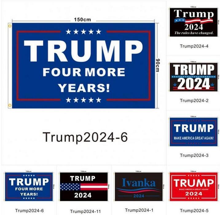 Azionamento degli Stati Uniti! 90 * 150 cm Trump flag 2024 Bandiera elettorale Banner Donald Trump Tenere America Grande di nuovo 5 Stili Bandiera del poliestere
