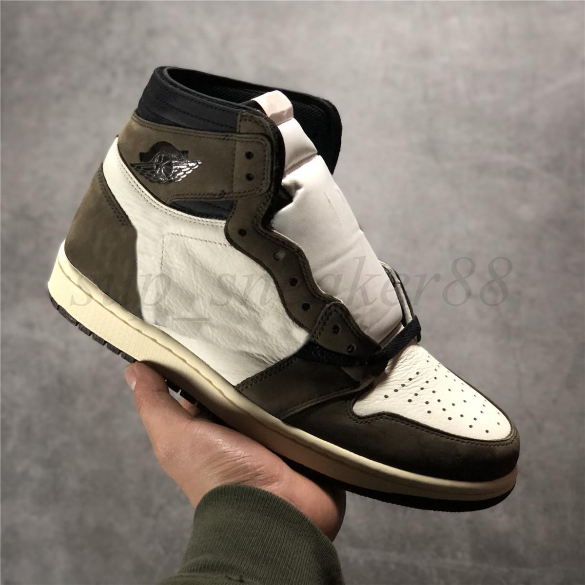 Con caja 2021 para mujer Mens Jumpman 1 1s Zapatillas de baloncesto Mid Atomic Orange Apenas Familia Banned Banned High OG Volt Twist Trayers Sneakers