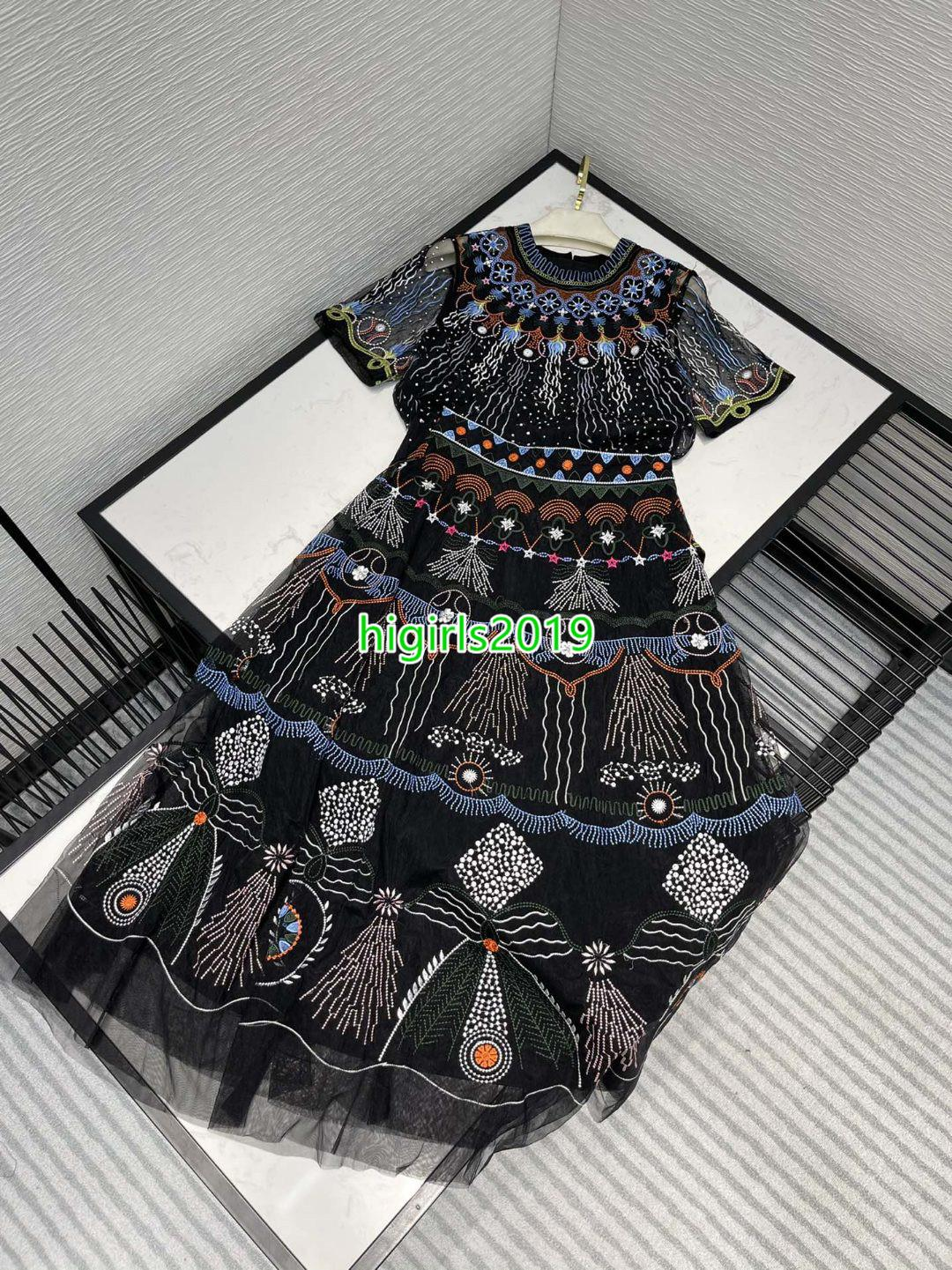 Mujeres Chicas Camiseta de manga corta Tulle Blusa de tul Camisetas con tops bordados florales Camiseta retro de la camiseta de alta cintura MIDI Falda de tul de dos piezas
