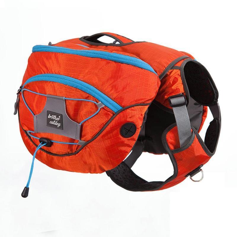 Hundeautositzabdeckungen Satteltasche mit abnehmbarem Weste Harness Rucksack 12L für mittelgroße große Hunde Reisen Wandern Camping