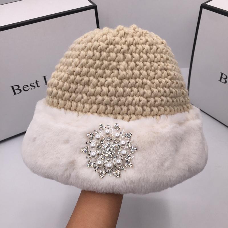 Tissu d'hiver ABB Thinting Femme Bassin Chapeau de seau pour femmes Dôme japonais à la mode