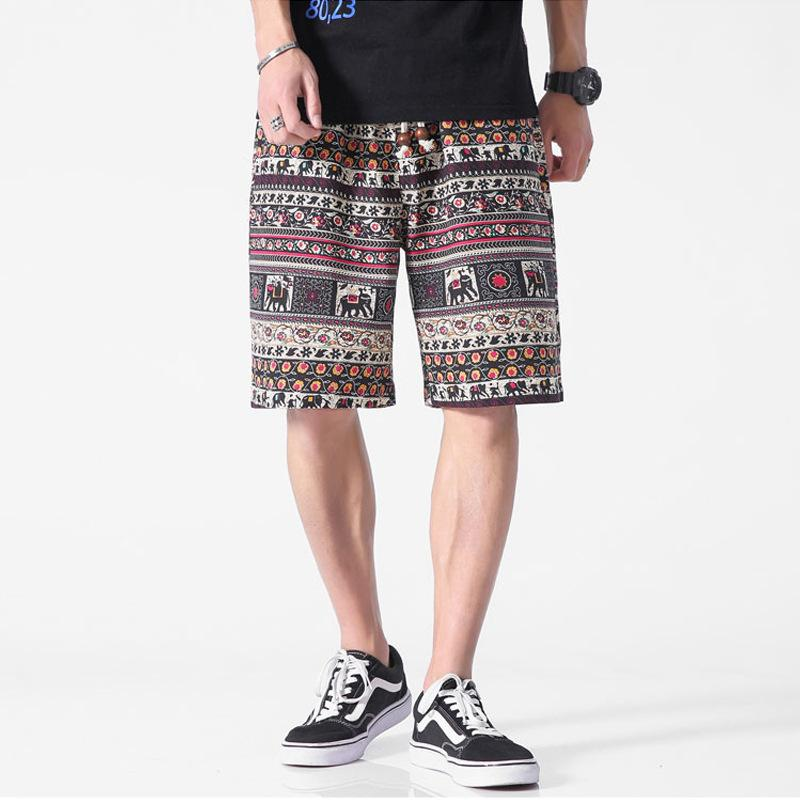 Été 2021 Hawaiian Shorts Floral Capris Beach Pantalons Hommes
