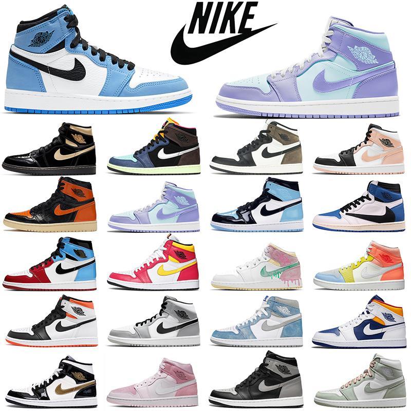 Мода дешевле ретро воздух jordan 1s мужские баскетбольные туфли aj1 jumpman 1 разведенные ноги chicago запрещенные тень женщины мужские тренеры спортивные кроссовки дышащие дробление