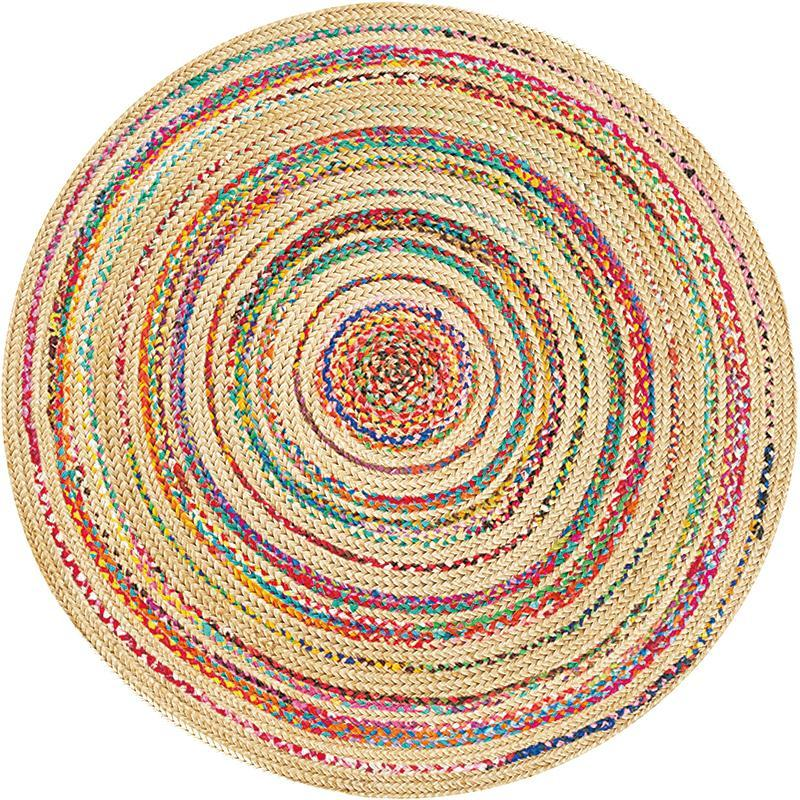 Ковры ретро этнический геометрический круглый ковер для гостиной спальня американский стиль печати напольный коврик кафедры коврики