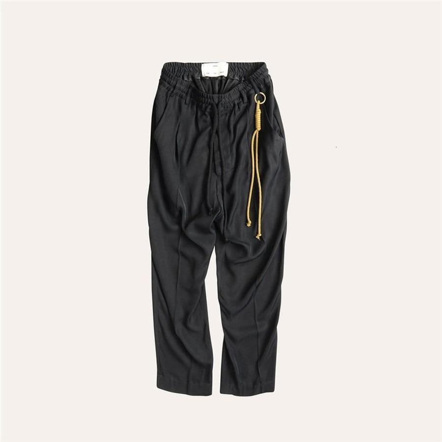 2021 New Song for the Mute with Straps Cargo Pants Women Joggers Drawstring Sweatpants Trousers Men Clothing Iifh