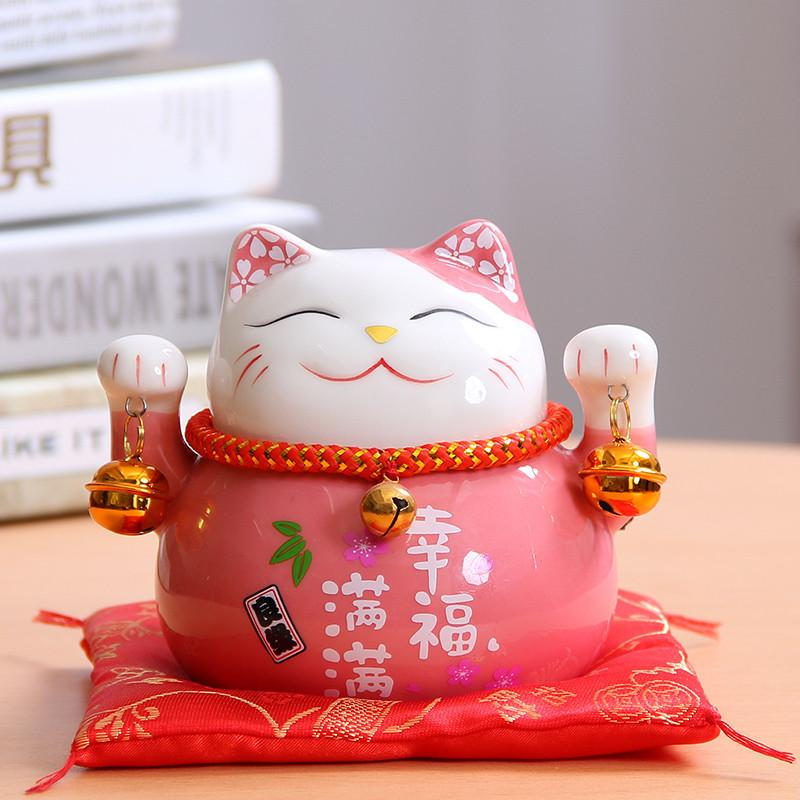 6 farben 4,5 cm manki neko porzellan Glück katze home decor piggy bank ornamente glück niedlich katze geld box feng shui handwerk