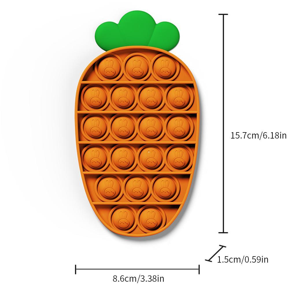 Antistress Toys Bubble Popping Game Push Fidget Sensory Toy Funny Adult Kids Reliver Stress Toys Silicone Pineapple Carrot Toy NWA3570
