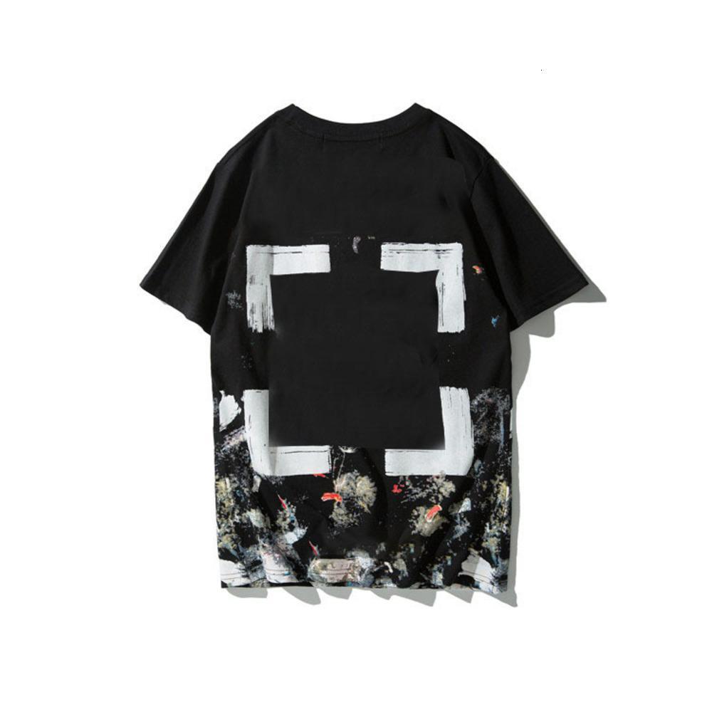끄는 티셔츠 별이 빛나는 하늘 불꽃 놀이 반팔 여름 패션 브랜드 커플 남성과 여성 순수한 면화 티셔츠 카우보이 688