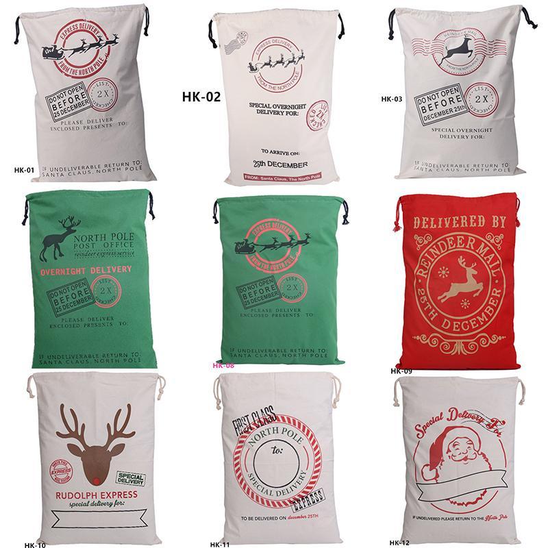 سانتا كيس هدية عيد القطن الرباط تخزين أكياس الكرتون نمط الحلوى أكياس مهرجان حزب الديكور