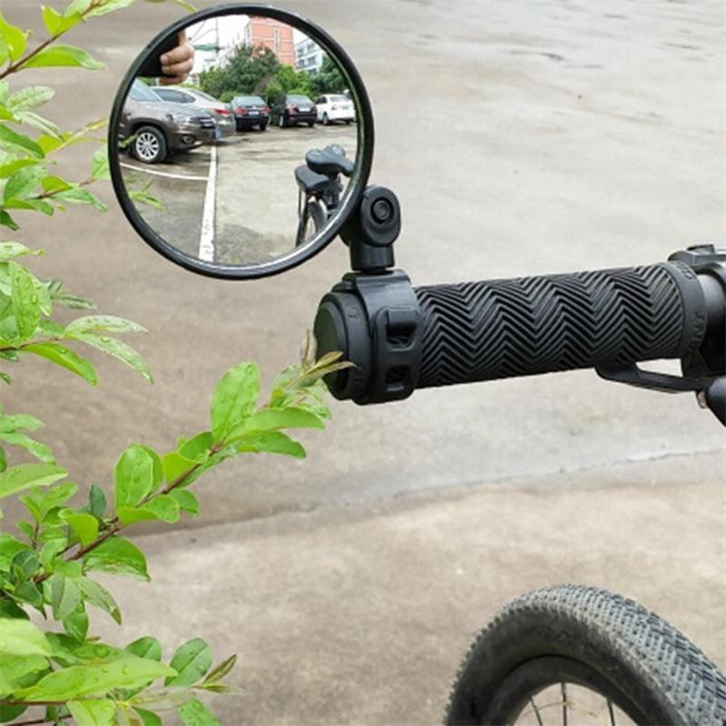 1 пара велосипедов заднего вида руль зеркала для велосипеда задний вид сзади MTB велосипедная силиконовая ручка зеркало заднего вида черный 202 х2