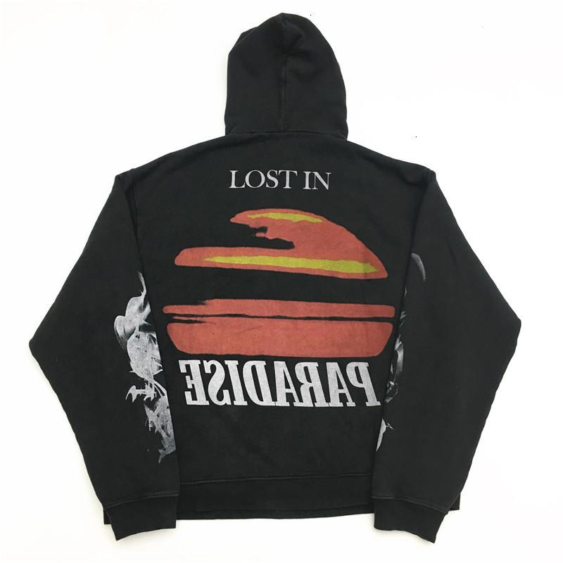 2021 New Lost in Paradise Hoodie Hoody Men Donne Donne Fire Nubi Sunset Vintage Pullover Askyurself felkshirts 2264