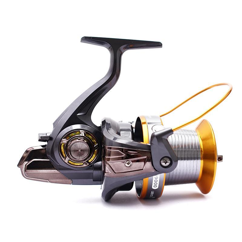 BAITCASTING Rollen FDDL Spinning Angelrolle 12 + 1 Kugellager Metall High Speed 4.11: 1 Links- / Rechts-Griff-Spulen für Pesca LJ9000 C5