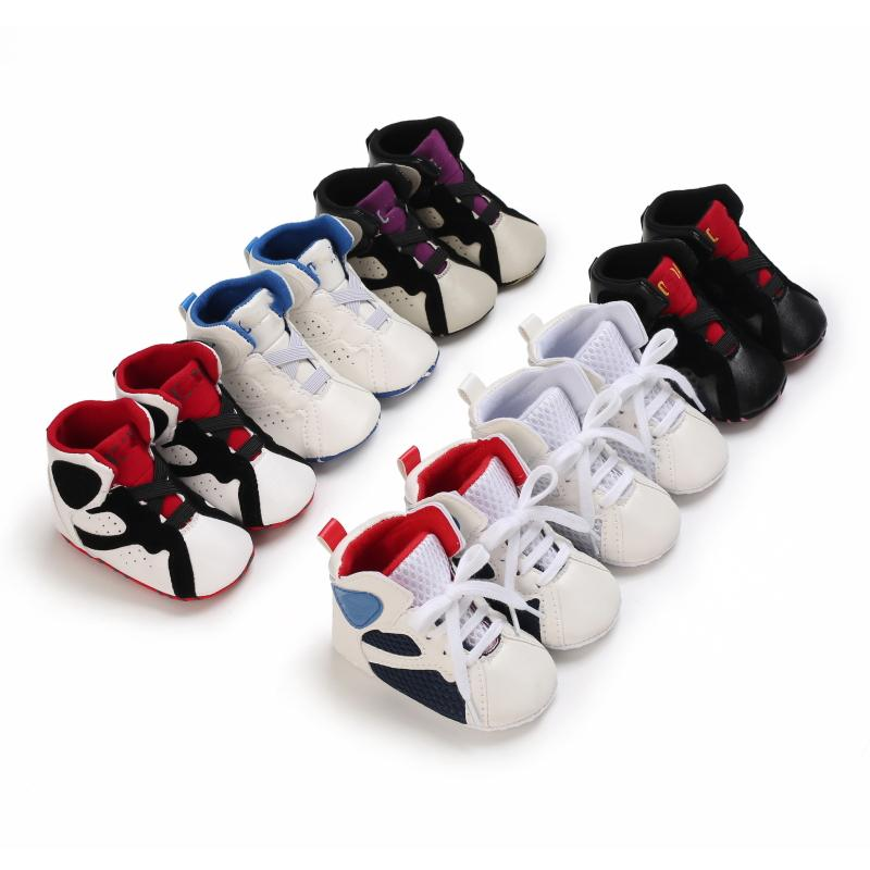 الطفل أول مشوا أحذية رياضية الوليد جلد كرة السلة أحذية الرضع الرياضة الاطفال الأزياء والأحذية الأطفال النعال طفل لينة وحيد الشتاء الدافئ الأخفاف