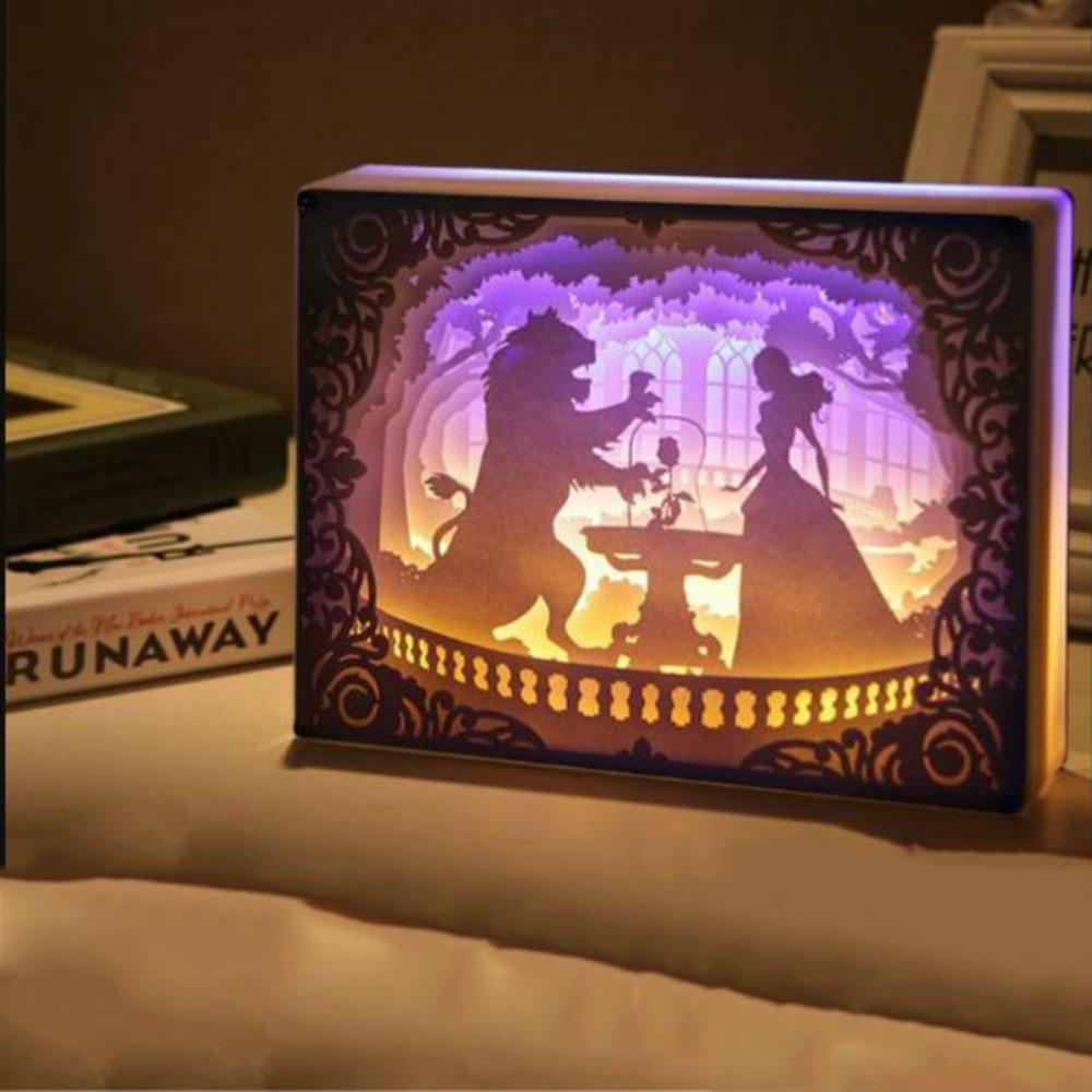 الجدة ضوء الليل totoro ورقة قطع الأجواء مصباح 3d ورقة نحت الفن الديكور مصباح USB السلطة ل غرفة المعيشة غرفة نوم C0305