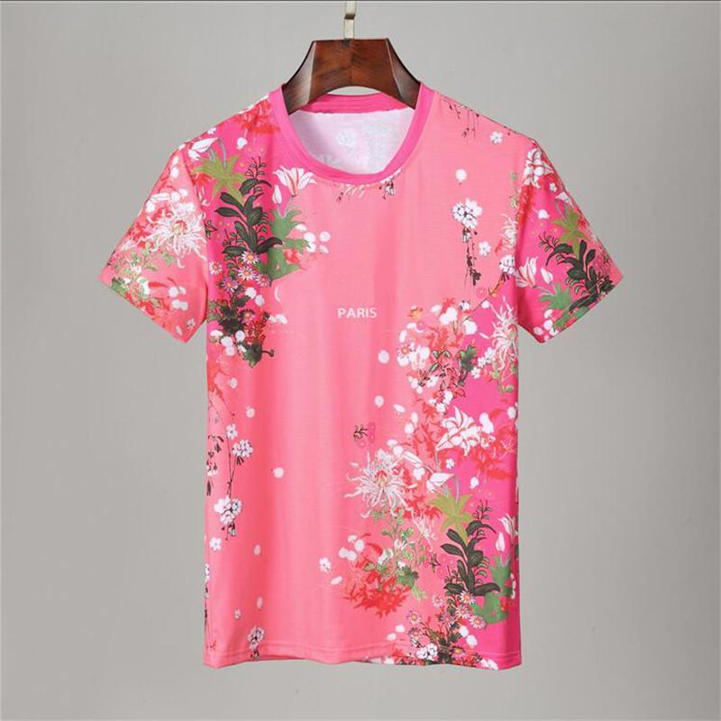 2021 New Summer Cotone Tshirt floreale serpente da serpente da ricamo moda manica corta T Shirt da uomo T-shirt da uomo T-shirt da uomo Homme di lusso # 6502 T-shirt