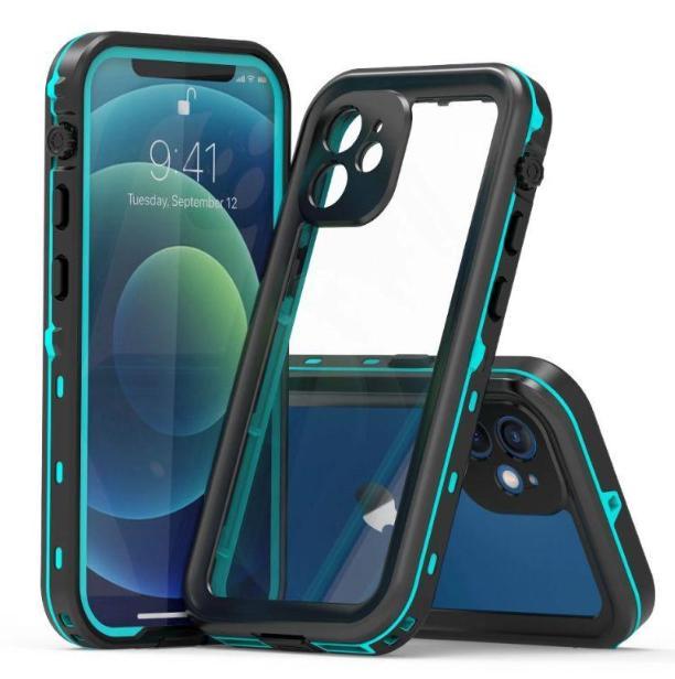 Para iPhone 11 12 xs max x 8 7 mais samsung galaxy s20 nota 20 capa impermeável capa água à prova de choque wireless carregador