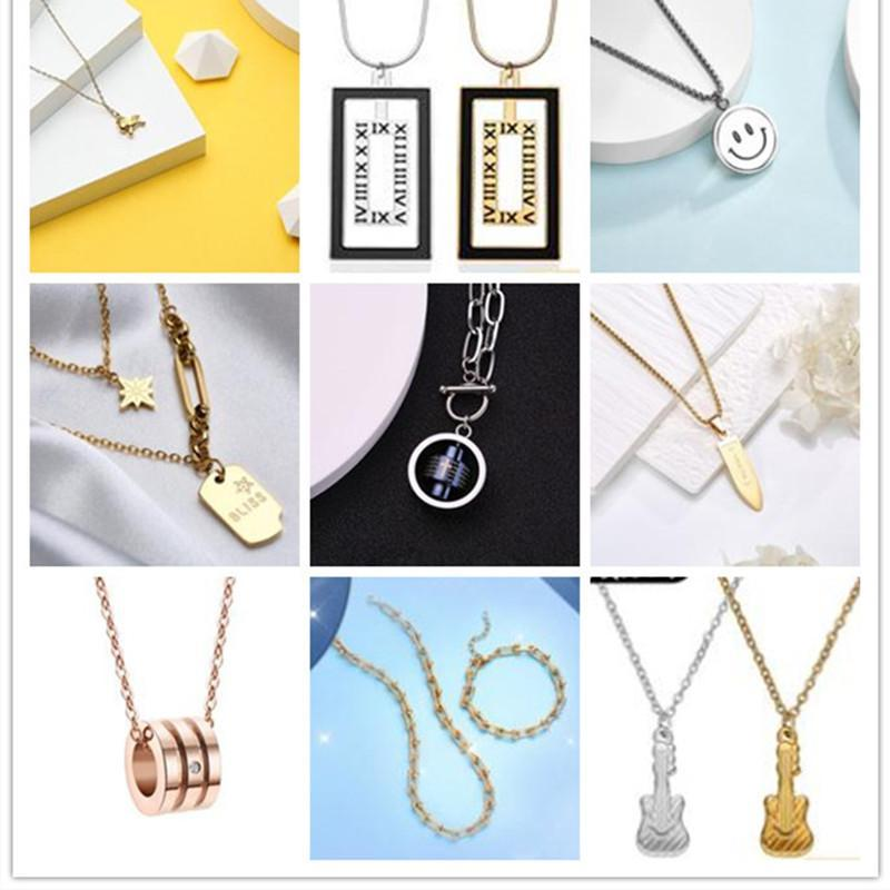 2021 Yılan Kemik Zincir Tasarımcı Takı Kolye Yuvarlak Boncuk Gümüş Paslanmaz Çelik Kolye Altın Moda Kadın Tüm Dükkanda Tüm Stilleri Karışık Toptan Elmas Numarası