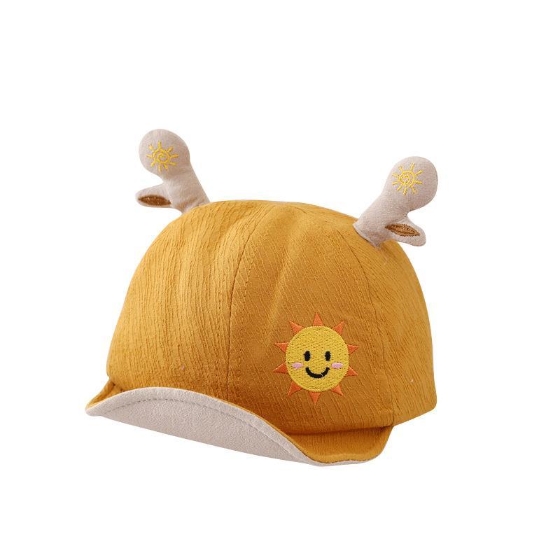 Bebek Kız Güneş Işığı Bloker Yaz Erkek Için Ince Fequened Cap Yumuşak Ağız Beyzbol Şapkası Çocuk Moda Kapağı