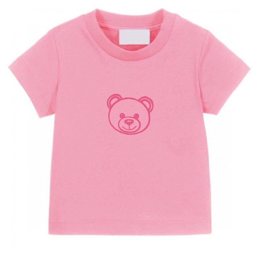 VERANO NIÑOS T-SHIRTS Letra Oso Tees Lindo Casual Boy Baby Ropa Cómoda Tshirt Tshirt Muchacha Multicolor Tops Niños 2021