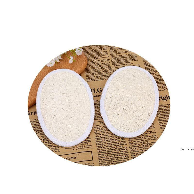 loofah الطبيعي لإزالة الجلد الميت منشفة منشفة منشفة القرع حمام الكرة اللوف غسيل المنزل أو حمام أسود الإسفنج dha3374
