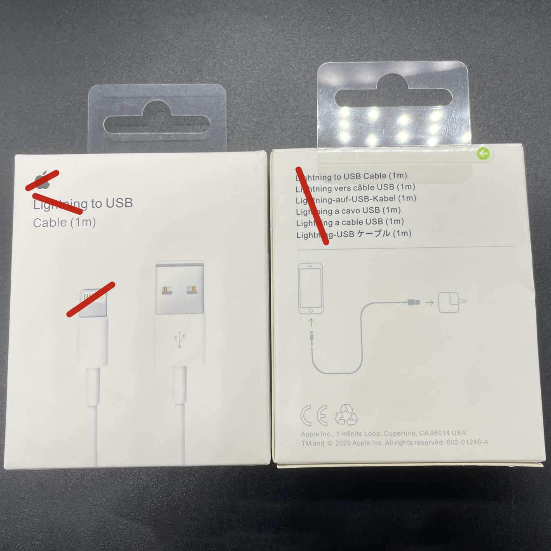 100 pcs 7 gerações Cabos Original OEM Qualidade 1M 3FT 2M 6AF Dados USB Sync Cobre Cabo de telefone com pacote de varejo Bom
