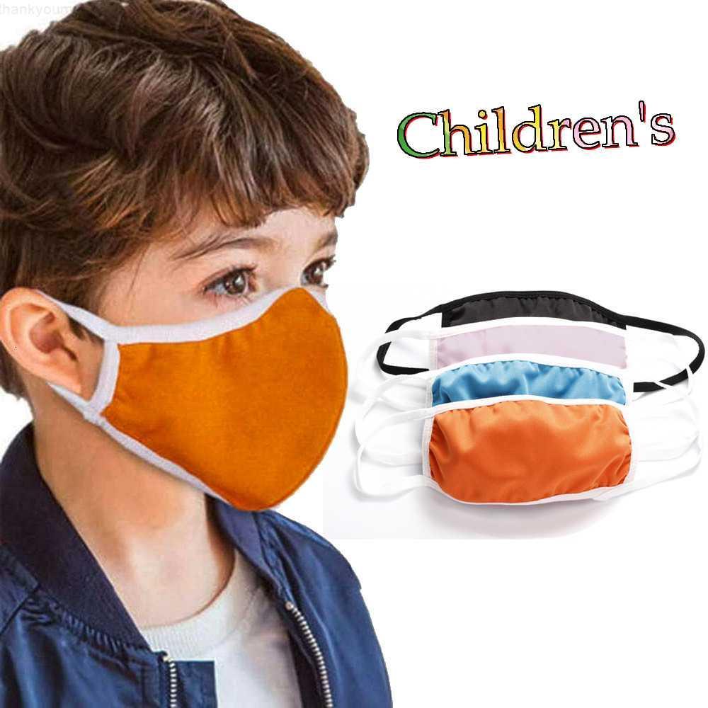 Cubierta de máscara para niños Diseñador de naranja Máscaras de algodón de la cara Inserción infantil PM2.5 Filtro Anti-Smog A prueba de polvo Explosión transfronteriza FAST DHL Free Ship
