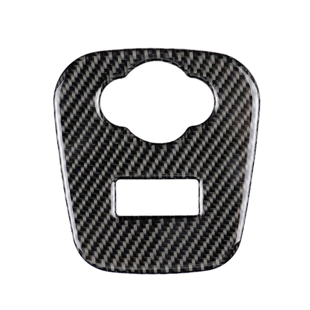Реальный углеродный волокно автомобиль интерьер наклейки автомобиля мощность автомобиля выпускной крышка декоративная наклейка защитная полоса для Minicooper JCW F55 F56