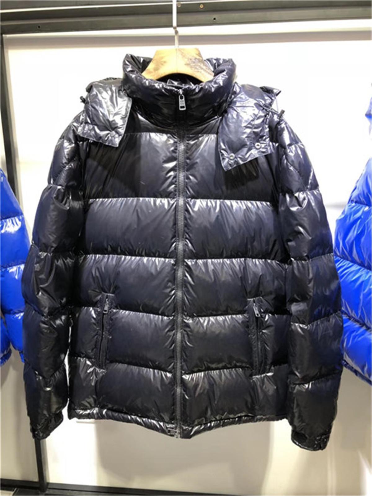겨울 방풍 지퍼 다운 자켓 남성용 따뜻한 후드 재킷 남자 울트라 라이트 오리 다운 재킷 편지 로고 남자