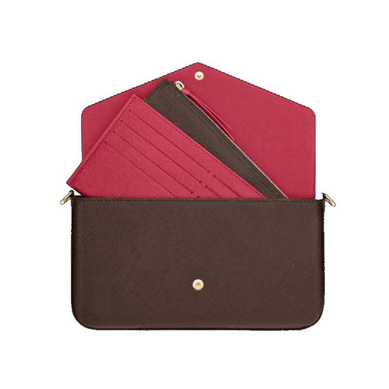 Top Quality 3pcs set Women Shoulder Bag Messenger Chain Strap CrossBody bags Ladies Flap Purse Clutch Totes With Box and Dust cloth belt