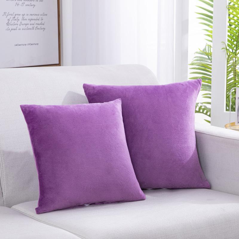 F74 Небольшая свежая обшивка наволочка вертикальная полоса замшевые подушки подушки бытовые товары обнять наволочку сплошной цветной подушки крышки ASDF