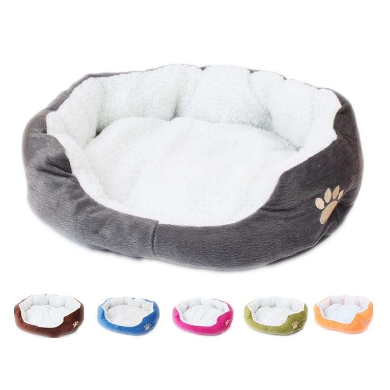 Camas para cães para pequenos cães médios morno lã cama cama redonda animal de estimação espreguiçadeira cães cães gato inverno cão canil filhote de cachorro esteira pet cama 210224