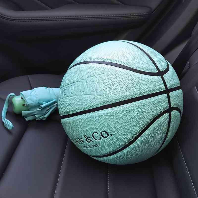 Three ring basketball TIFFANY BLUE 7 Pu hygroscopic Tiffany box No. 5 children's engraved gift