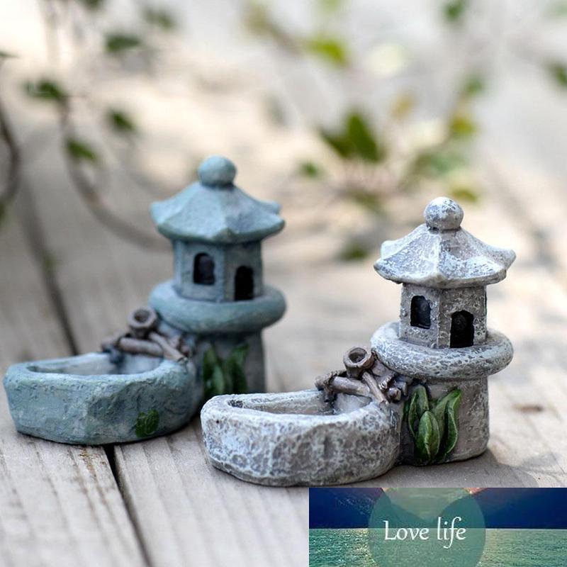 4 * 5 سنتيمتر بركة التماثيل مصغرة الراتنج الحرفية للمنزل زين برج الديكور حديقة الاسترخاء المنزل الشاي الحيوانات الأليفة