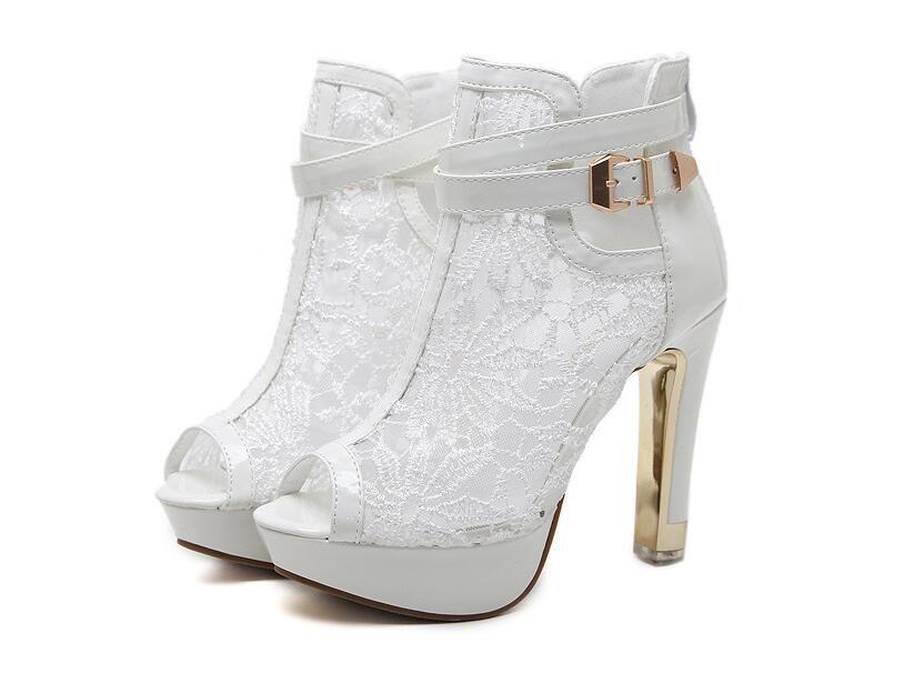 Balık ağız kadın ayakkabı sandalet botlar yardım parti kız mizaç kısa çizmeler sandalet