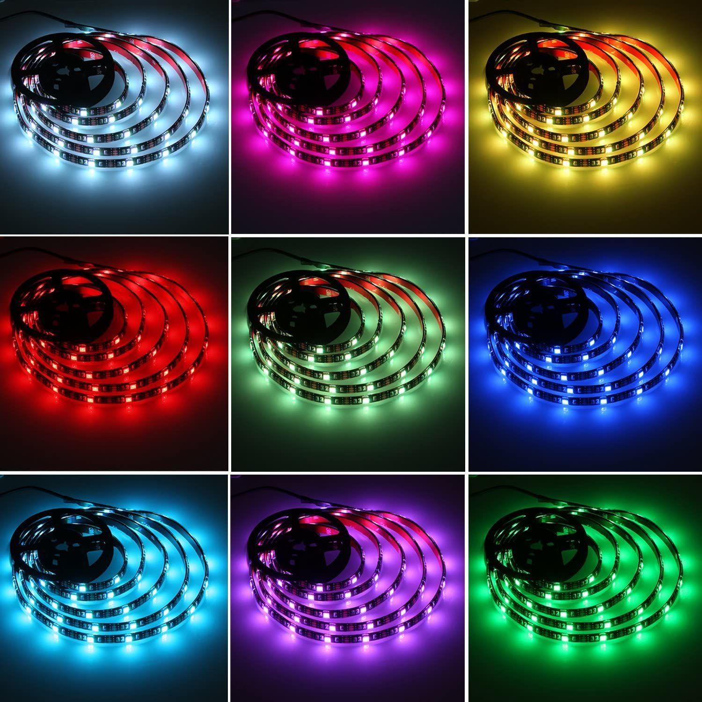 Mingelight TV retroilluminazione LED Strips 3m RGB con telecomando Modalità multi-scena a 16 colori