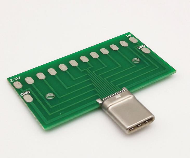 Supply Type-C Test Male Connector With PCB Board