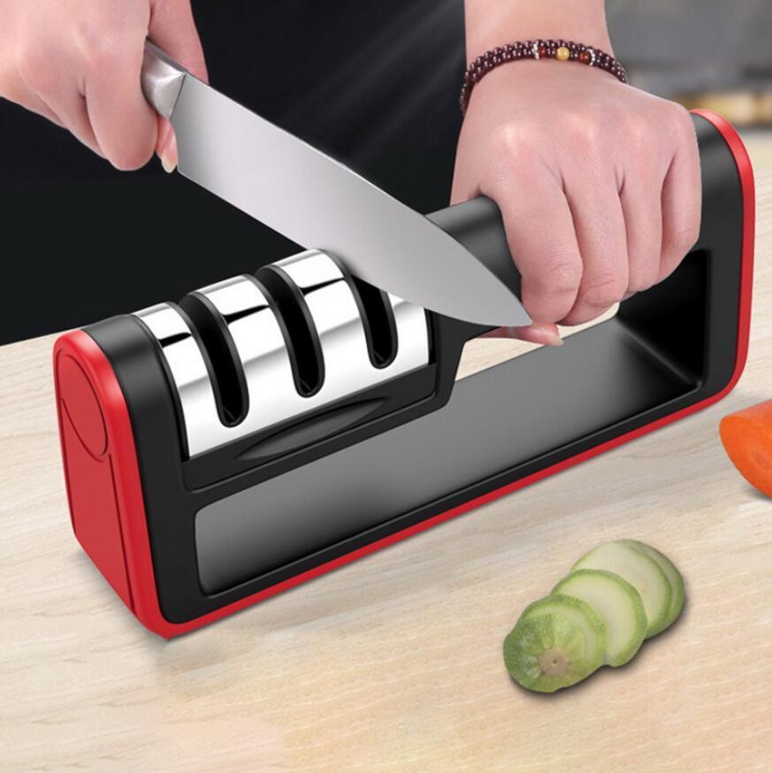 Sacapuntas de cuchillos profesionales Diamante Rápido 3 etapas Sacapuntas Cuchillo Afilado Herramientas Afilado Piedra Accesorios de cocina envío gratis