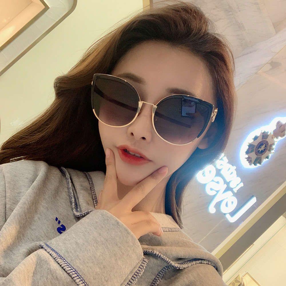 2019 Nuevas gafas de sol Mujeres 1097 de moda red rojo mismo Cat's Eye Cyebrow Sunglasses Moda femenina