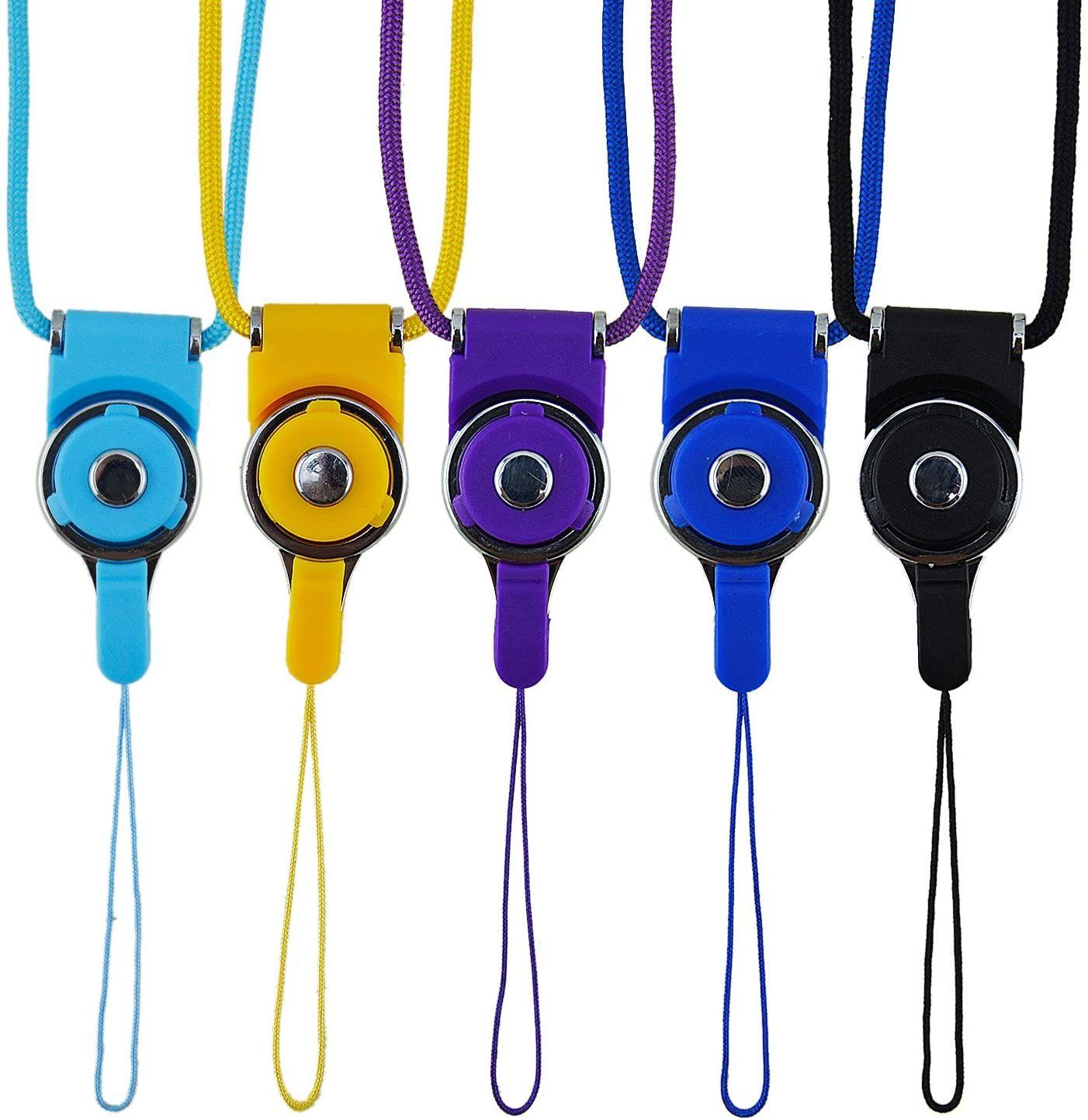 전화 넥 스트랩 끈 퀵 릴리스, 분리형 목걸이 넥 밴드, 사무실 분리 문자열, 키 체인, 아이폰, ID 배지 홀더, USB 플래시 드라이브 용 휘슬 스트랩