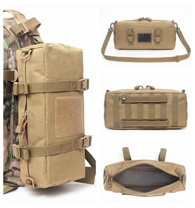 Taktische Rucksäcke Molle Bag Wandern Reise Camping Outdoor Sport Zubehör Lagerung Beutel Sling Tasche Armee Military Schulter 84 W2