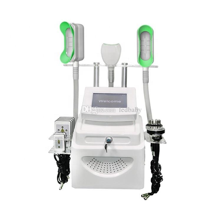 Nouveau 360 Cryolipolysis Minceur Fat Freeze Machine Cool Corps en forme de vide Liposuccol Cavitation ultrasonique Equipement de beauté RF Lipolaser