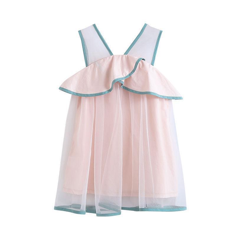 VIDMID Girls Dress New Summer Sleeveless Star Sequins New Children Dress Sweet Party Mesh Princess Kids Clothing P724