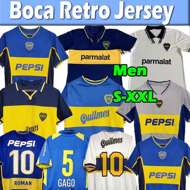 Boca Juniors Retro Futbol Jersey Maradona Roma Caniggia Riquelme 1997 2002 Formalar 84 95 96 97 98 99 00 01 02 03 04 05 06 1981 Maillot Camiseta de Futbol Futbol Gömlek