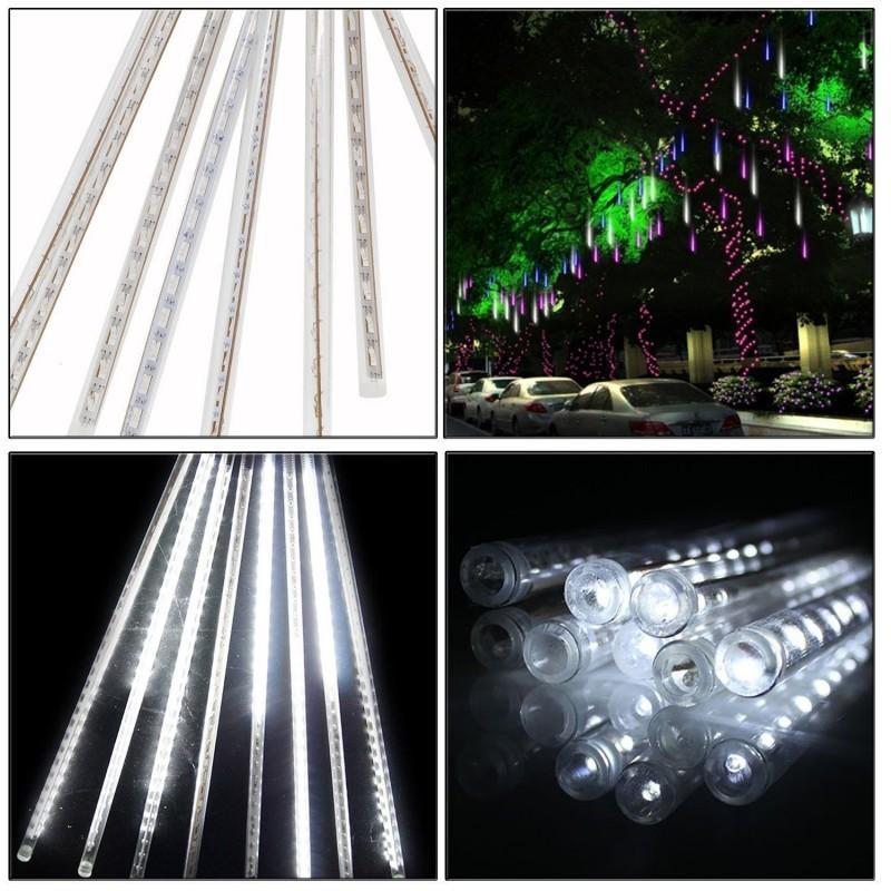 Çok renkli 30 cm Meteor Duş Yağmur Tüpleri AC110-240 V LED Noel Işıkları Düğün Parti Bahçe Noel Dize Işık Açık