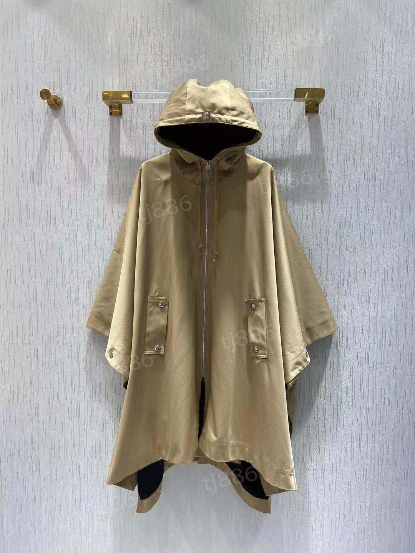 Designer casaco mulheres moda jaqueta primavera outono outwear windwear hoodie zipper casacos com capuz clássico fora do esporte tamanho asiático ss. vestuário alta qualidade