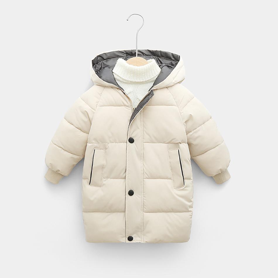 Детский палочкой для детей зимняя куртка для мальчиков для мальчиков девочек хлопчатобумажные парки Парки сгущает теплые длинные куртки детская верхняя одежда 002